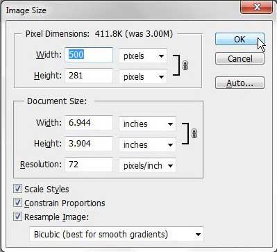 Как уменьшить размер файла JPEG в Photoshop CS5