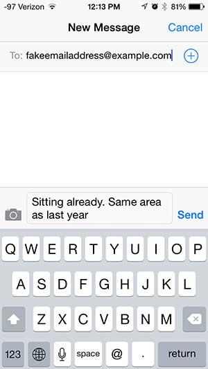 Как отправить текстовое сообщение с iPhone по электронной почте