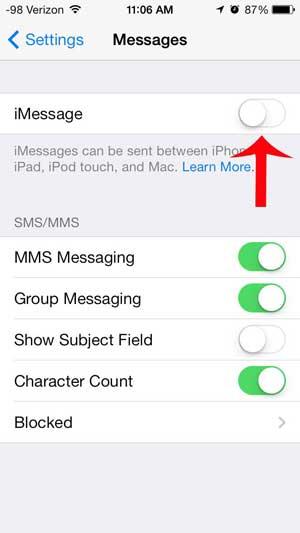 Как отправлять текстовые сообщения вместо iMessages на iPhone