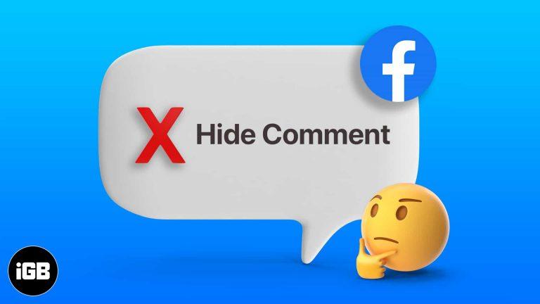 Как скрыть комментарий в Facebook и другие альтернативы (2021)