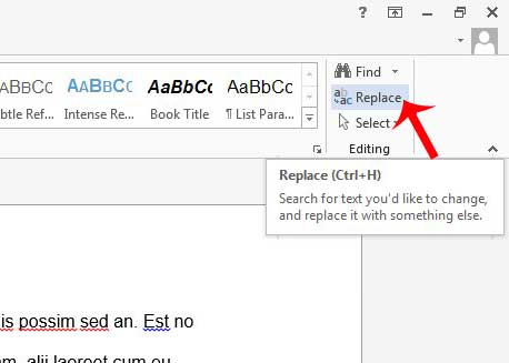 Как найти и заменить текст в Word 2013
