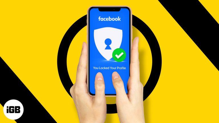 Как заблокировать профиль Facebook на iPhone с помощью приложения и браузера