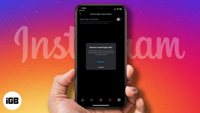 Как удалить запомненный аккаунт в Instagram