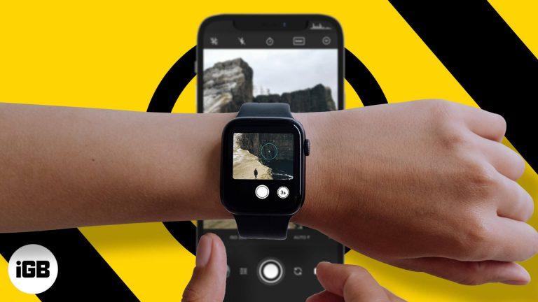 Как использовать Apple Watch для управления камерой iPhone