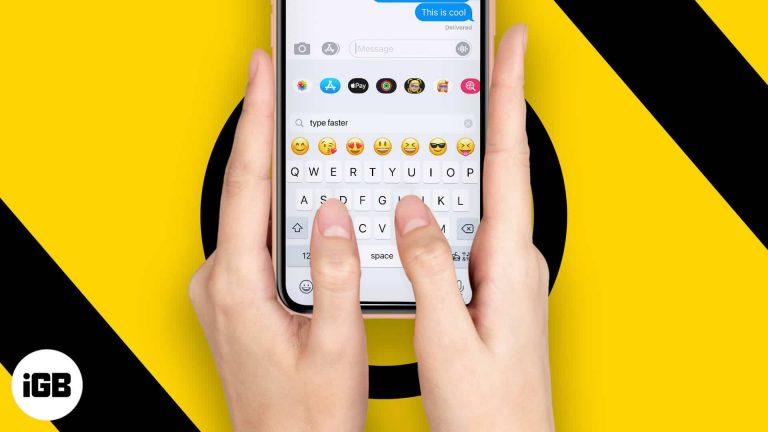 Как быстрее печатать на клавиатуре iPhone