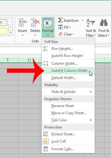 Как автоматически подогнать все столбцы в Excel 2013