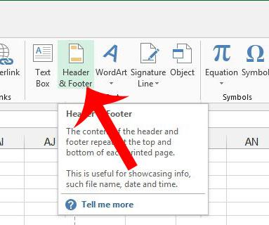 Как удалить заголовок в Excel 2013