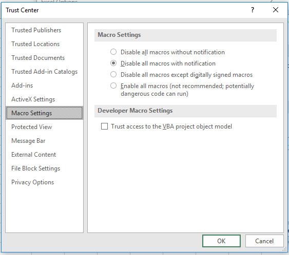 Как включить макросы в Excel для Office 365