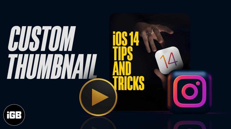Как добавить миниатюру к видео в Instagram