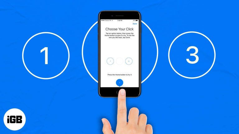 """Как настроить интенсивность и скорость нажатия кнопки """" Домой """" на iPhone"""