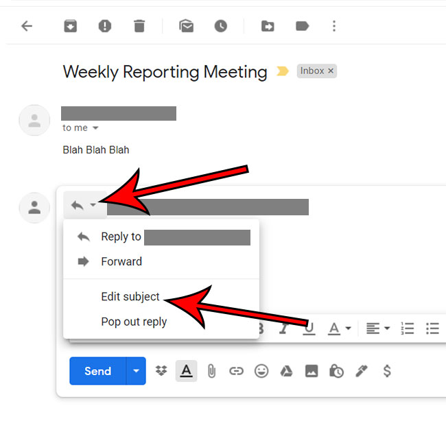 Как изменить строку темы в Gmail