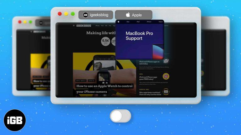 Как отключить предварительный просмотр вкладок Safari на Mac (Краткое руководство)