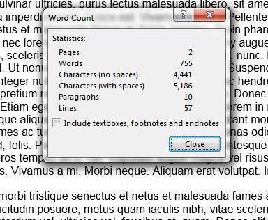 Как подсчитать количество слов в Word 2013