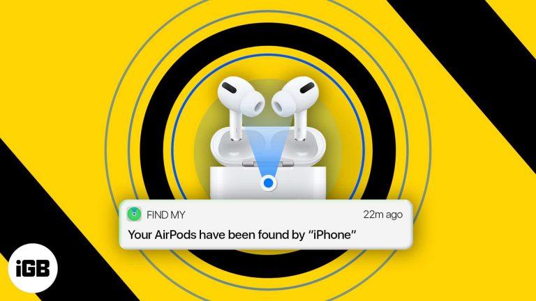 Как найти потерянные AirPods, AirPods Pro или AirPods Max