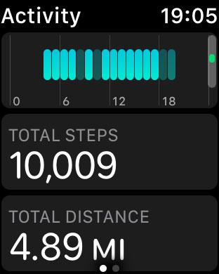 Как посмотреть количество шагов на Apple Watch