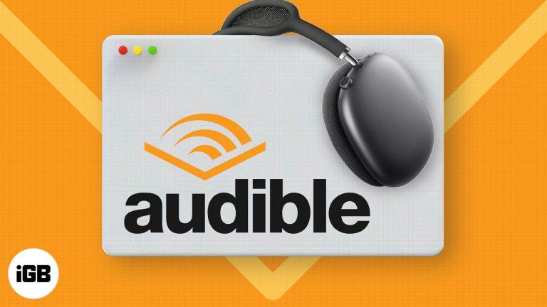 Как слушать Audible на Mac