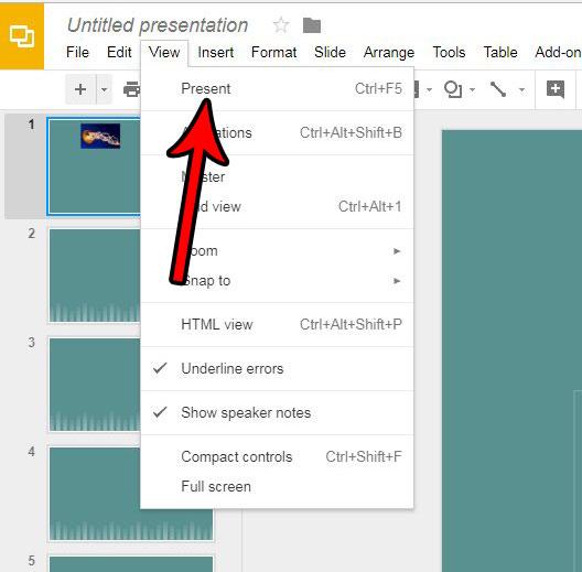 Как просмотреть вашу презентацию в Google Slides