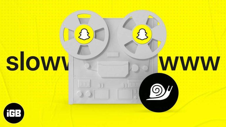 Как замедлить видео на Snapchat с iPhone