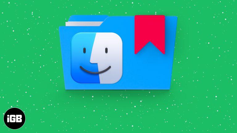 Как добавить папку в закладки в Finder на Mac
