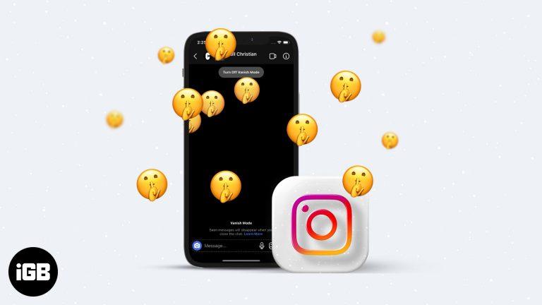Как включить режим исчезновения в Instagram с iPhone