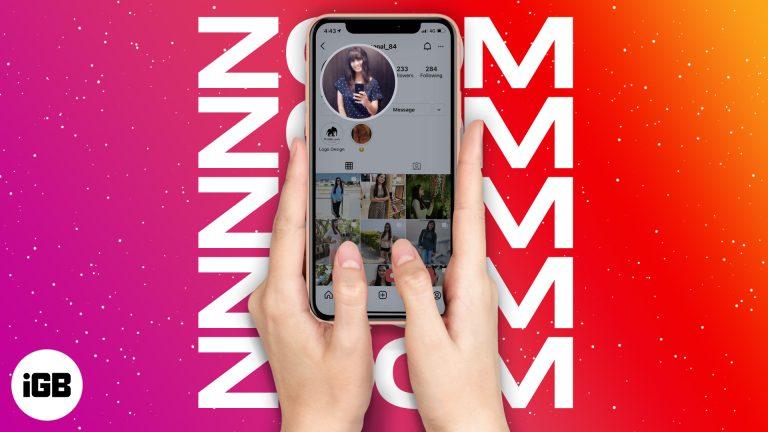 Как увеличить изображение профиля Instagram на iPhone (2 хитрости)