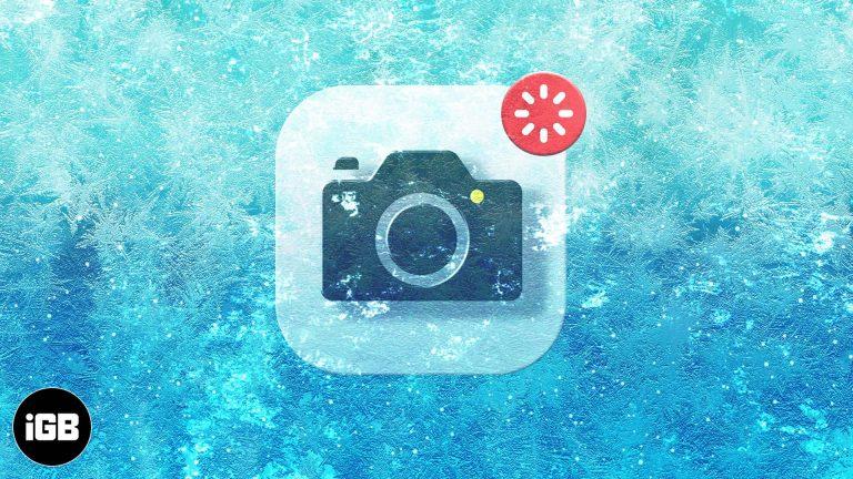 Приложение камеры зависает на iPhone или iPad?  6 быстрых исправлений