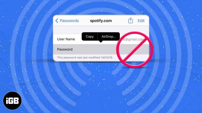 Не можете передавать пароли с помощью AirDrop на iPhone?  9 исправлений