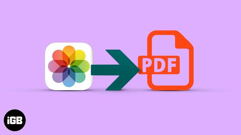 Как конвертировать фото в PDF на iPhone и iPad (3 способа)