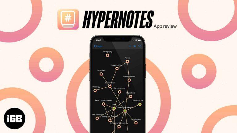 Обзор приложения Hypernotes для iPhone: создавайте связанные заметки!
