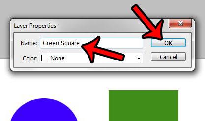 Как переименовать слой в Photoshop CS5