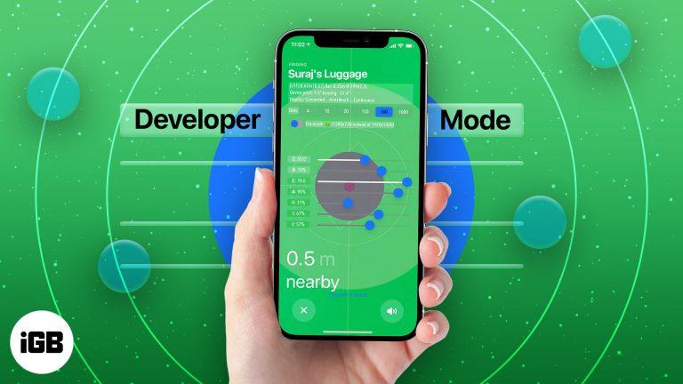 iOS 14.5: включить скрытый режим разработчика Apple AirTag на iPhone
