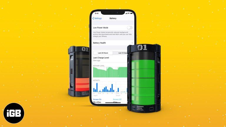 Как проверить использование батареи на iPhone (советы по максимальному использованию)