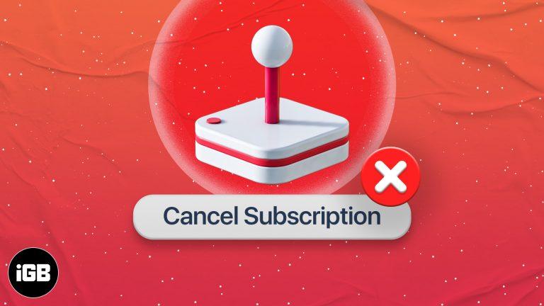 Как отменить подписку на Apple Arcade