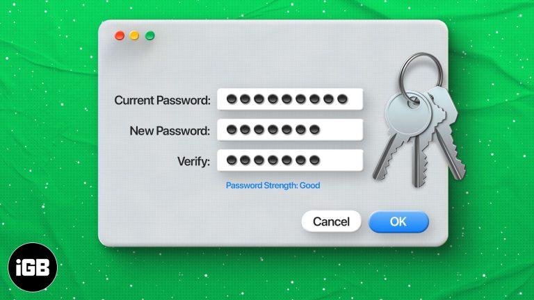 Как изменить пароль связки ключей на Mac: 3 способа объяснения