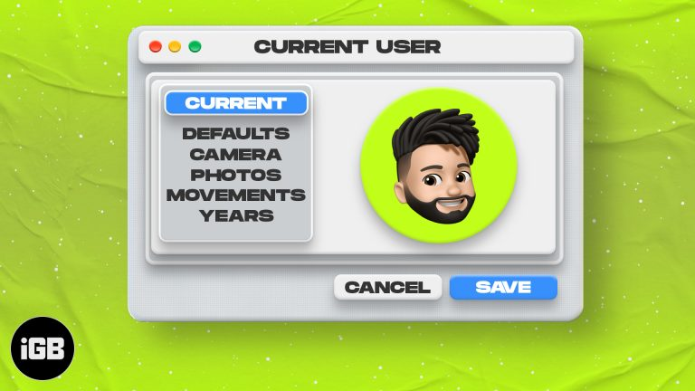 Как изменить изображение профиля пользователя на Mac
