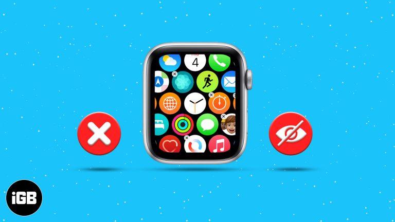 Как удалить или скрыть приложения на Apple Watch (4 простых шага)