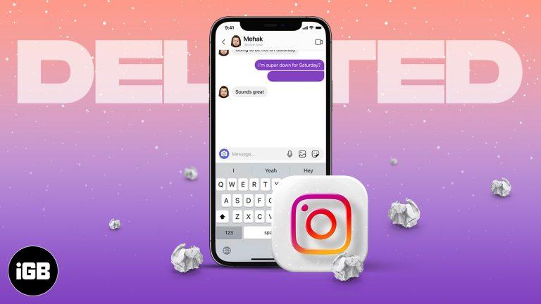 Можете ли вы восстановить удаленные сообщения Instagram? [Fact check]