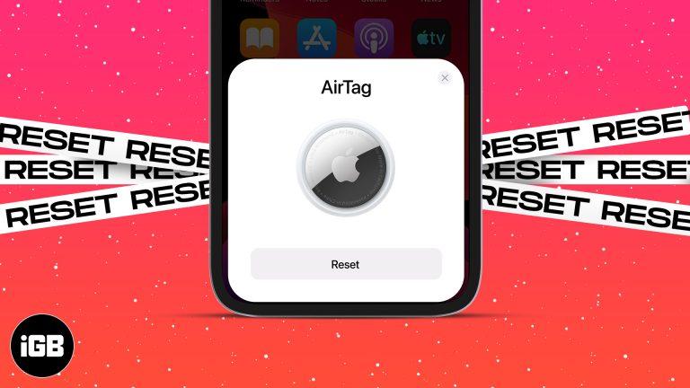 Как сбросить AirTag