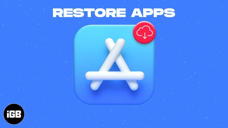 Как восстановить удаленные приложения на iPhone или iPad в iOS 14