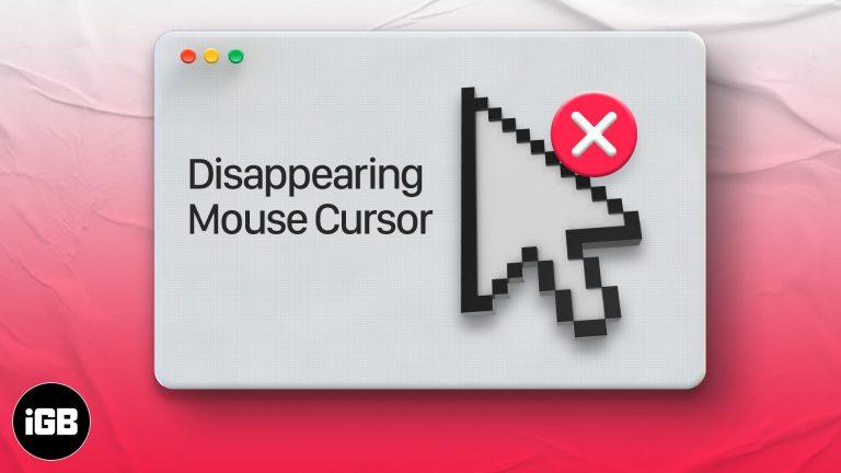 Курсор мыши исчезает на Mac?  Попробуйте эти исправления