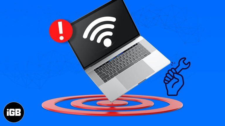 6 простых способов решить проблему с самоназначенным IP-адресом на Mac