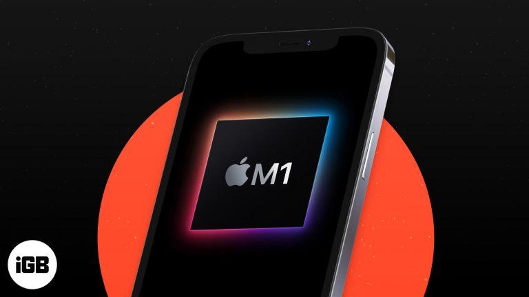Будет ли iPhone 13 иметь чип M1?  (Слухи и концепции)