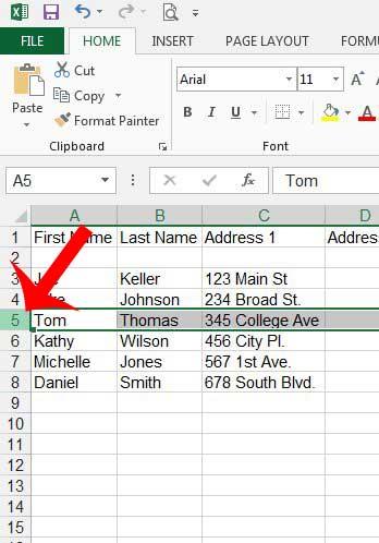 Как вставить строку в Excel 2013