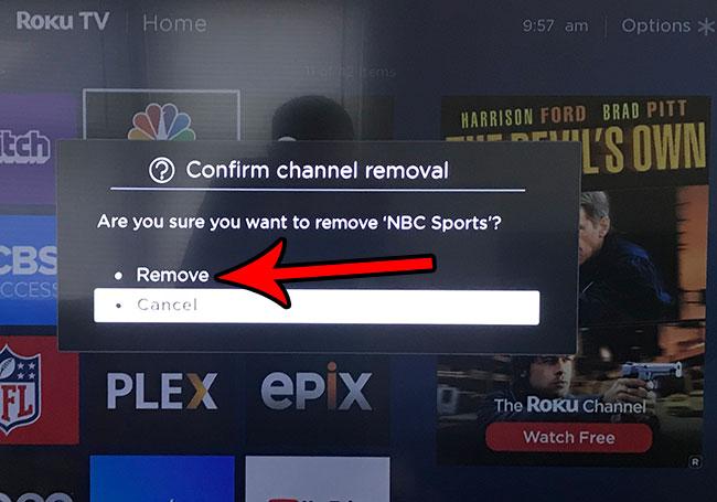 Как удалить канал на Roku TV
