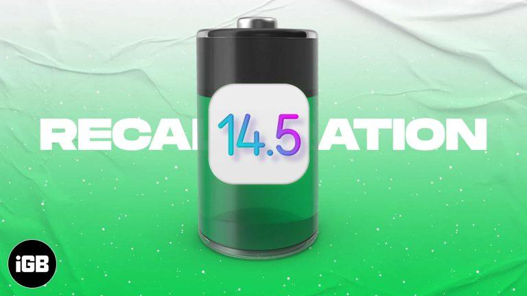Как откалибровать аккумулятор iPhone 11 в iOS 14.5