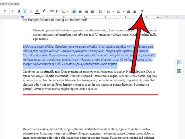 Как очистить форматирование в Google Документах