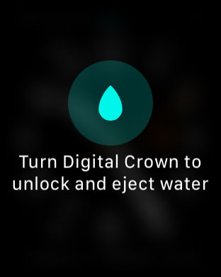 Что означает значок капли воды в верхней части экрана Apple Watch?