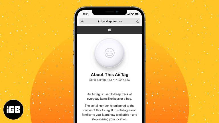 Как найти серийный номер AirTag (3 быстрых способа)