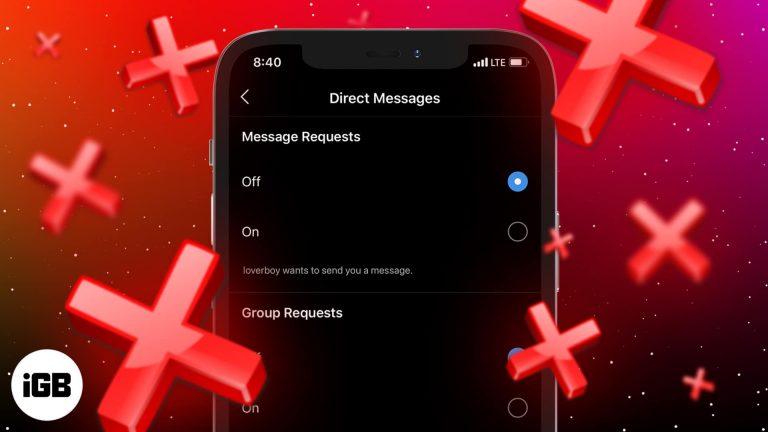 Как отключить запросы сообщений в Instagram (2021)