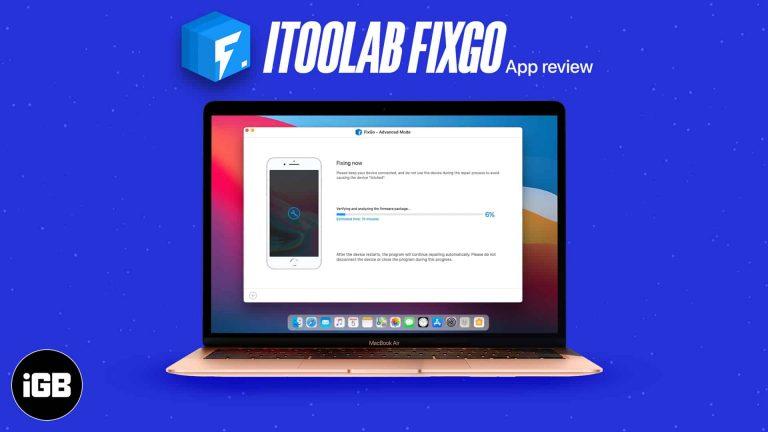 Обзор iToolab FixGo: ремонт не отвечающих устройств Apple